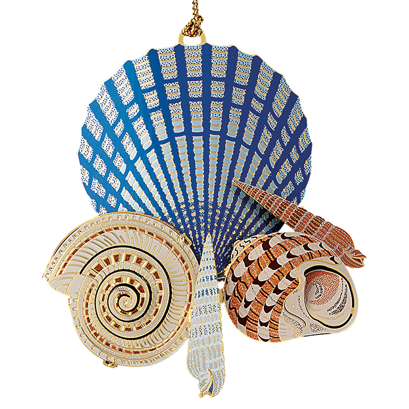 Seashells on the Seashore Ornament Christmas Ornament | Chemart Christmas Tree Decoration | Christmas Seashells on the Seahore Design