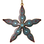 ChemArt Starfish Brass Christmas Decoration