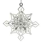 ChemArt Twinkling Snowflake Brass Christmas Decoration