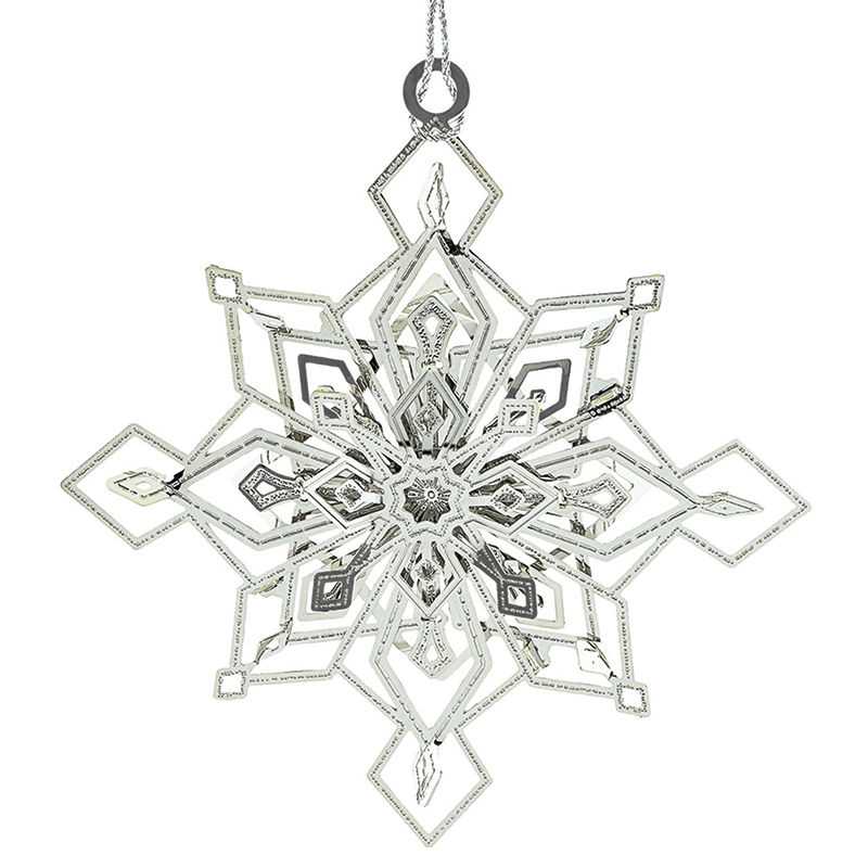 Twinkling Snowflake Ornament Christmas Ornament | Chemart Christmas Tree Decoration | Christmas Twinkling Snowflake
