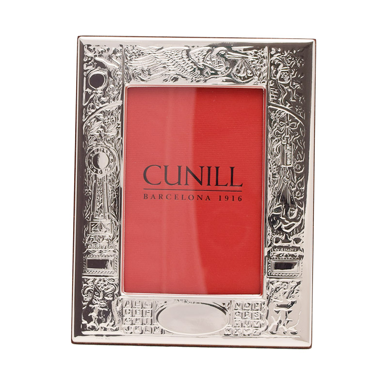 Cunill Birth Record Frame Sterling Silver Picture Frames