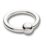 Cunill Ring with Ball Rattle Sterling Silver Baby Gift