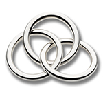 Cunill Three Ring with Rattle Sterling Silver Baby Gift