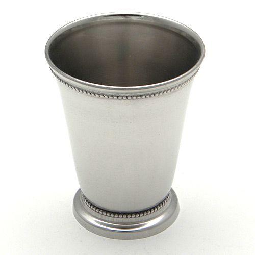 Elegance Silver Nickelplated Beaded Mint Julep Cups