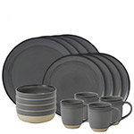 Ellen DeGeneres Grey Brushed Glaze Dinnerware