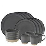 Ellen DeGeneres Grey Brushed Glaze Colletion Dinnerware