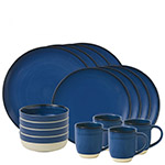 Ellen DeGeneres Cobalt Blue Brushed Gaze Dinnerware