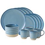 Ellen DeGeneres Polar Blue Brushed Gaze Dinnerware