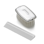 Empire Silver Military Style with Shield Design Brush and Comb Set