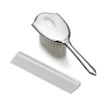 Empire Silver Classic with Shield Design Brush and Comb Set
