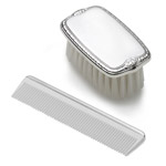 Empire Silver Military Style Sterling Silver Brush and Comb Set