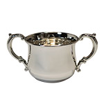 Empire Sterling Silver Double Handle Pot Belly Baby Cup