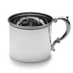 Empire Silver Bead Border Sterling Silver Baby Cup