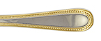 Caviar Gold Accent Stainless Flatware by Fortessa
