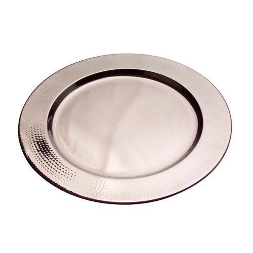 goldinger hammered silver charger plates