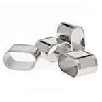 Godinger Nickelplate Oval Napkin Rings, Set of 4