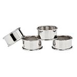 Godinger Silver Plate Round Napkin Rings, Set of 4