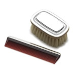 Gorham Beaded Sterling Silver Baby Brush and Comb Set