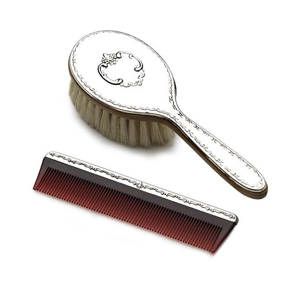 Gorham Chantilly Girls Sterling Silver Brush And Comb Set