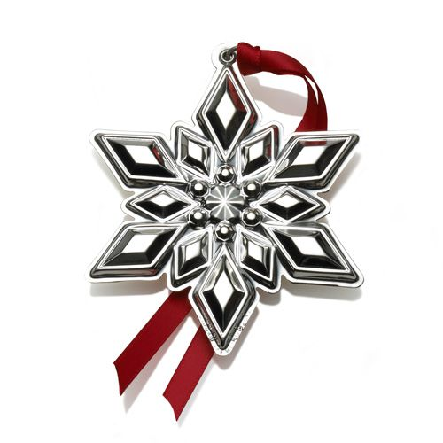 2015 Gorham Snowflake Sterling Silver Ornament Silver