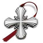 2014 Gorham Sterling Silver Cross Christmas Ornament