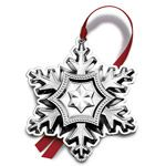 2014 Gorham Snowflake Sterling Silver Christmas Ornament