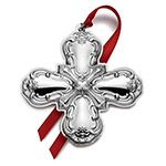 2014 Gorham Sterling Silver Cross Christmas Decoration