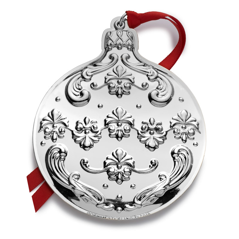 Gorham chantilly 2016 gorham silver christmas ornament for Christmas decorations 2016