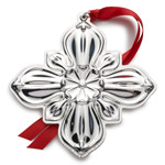 2016 Gorham Sterling Silver Cross Christmas Decoration