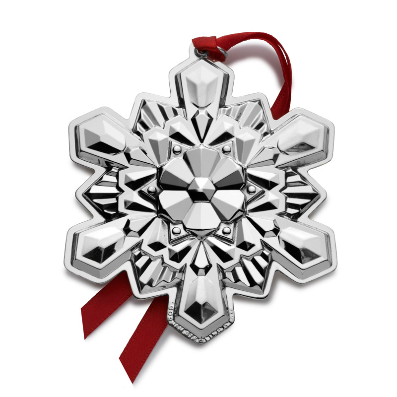 Silver Snowflake Christmas Tree Decoration | Gorham Christmas Ornaments | 2016 Snowflake