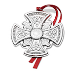 2017 Gorham Sterling Silver Cross Christmas Decoration
