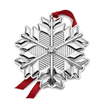 2017 Gorham Snowflake Sterling Silver Christmas Ornament