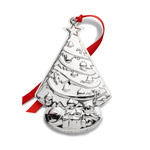 2019 Kirk Stieff Repousse Sterling Silver Christmas Ornament