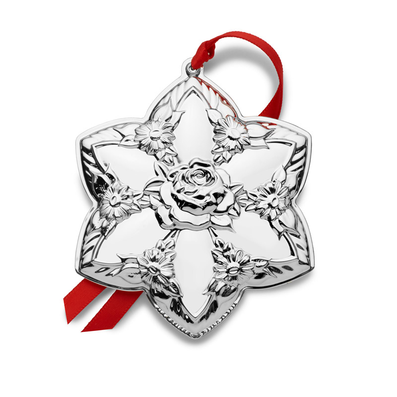 2019 Repousse | Kirk Stieff Christmas Tree Decoration | Silver Wreath