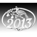 2013 Hand and Hammer Annual Christmas Birds Sterling Silver Ornament