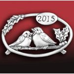2014 Hand and Hammer Annual Christmas Birds Sterling Silver Ornament