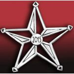 2014 Hand and Hammer Annual Star Sterling Silver Christmas Ornament