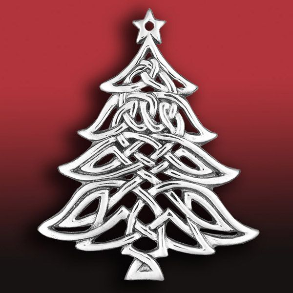 Hand and Hammer Celtic Christmas Tree Silver Ornament | Silver ...