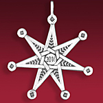 2016 Hand and Hammer Annual Christmas Star Sterling Silver Christmas Ornament