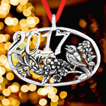 2017 Hand and Hammer Annual Christmas Bird Sterling Silver Christmas Ornament