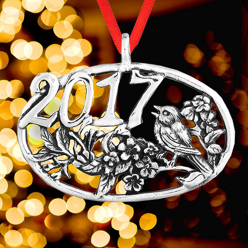 2017 Bird Ornament Christmas Ornament | Hand and Hammer Christmas Tree Decoration | Bird Design