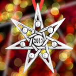 2017 Hand and Hammer Annual Christmas Star Sterling Silver Christmas Ornament