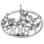 2018 Hand and Hammer Annual Christmas Bird Sterling Silver Christmas Ornament