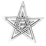 2018 Hand and Hammer Annual Christmas Star Sterling Silver Christmas Ornament