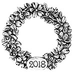 2018 Hand and Hammer Annual Wreath Sterling Silver Christmas Ornament