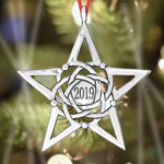 Hand and Hammer 2019 Sterling Silver Christmas Star Ornament
