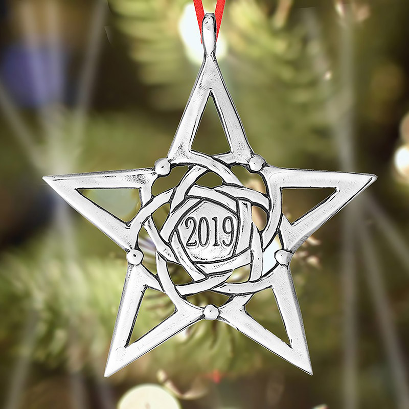 2019 Christmas Star Ornament Christmas Ornament | Hand and Hammer Christmas Tree Decoration | Star Design