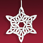 Hand and Hammer Celtic Christmas Snowflake Sterling Silver Christmas Ornament