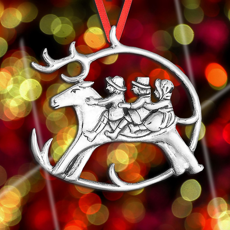 Christmas Ornament | Hand and Hammer Christmas Tree Decoration | Reindeer decoration