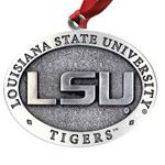 Louisiana State University Pewter Christmas Ornament